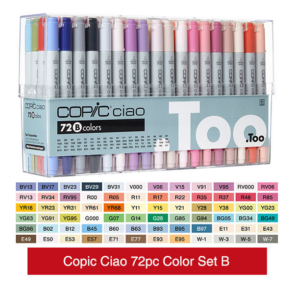 Copic-Ciao-Markers-72-B-Set