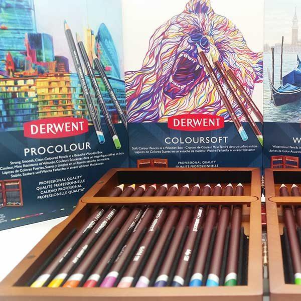 Derwent-24-set-Procolour-and-Coloursoft-Wooden-Boxes