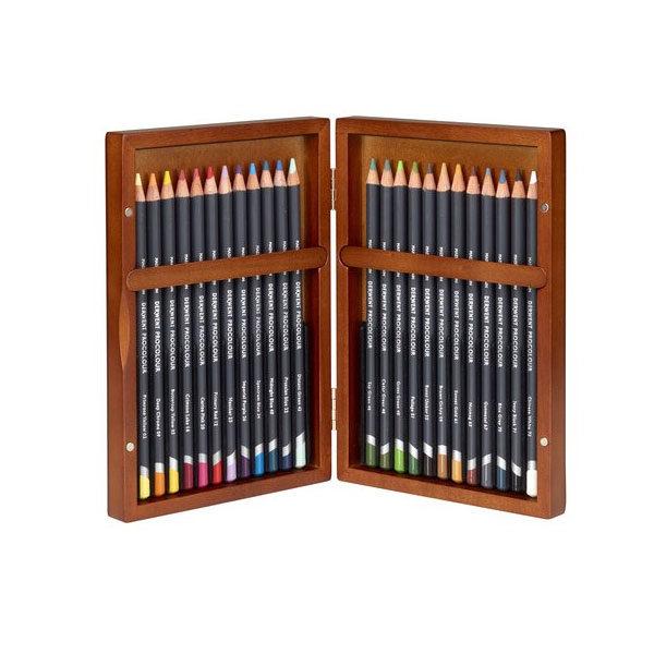 Derwent-Procolour-Wooden-Box-24-Set-Pencils