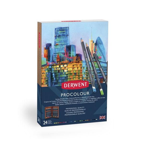 Derwent-Procolour-Wooden-Box-24-Set-front