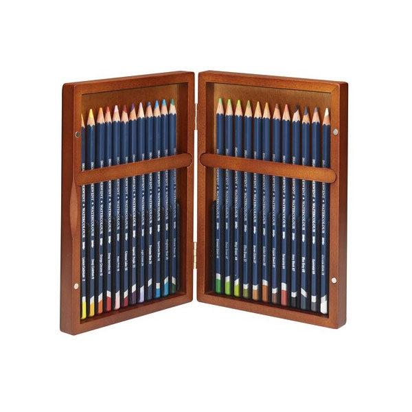 Derwent-Watercolour-Wooden-Box-24-Set-Pencils