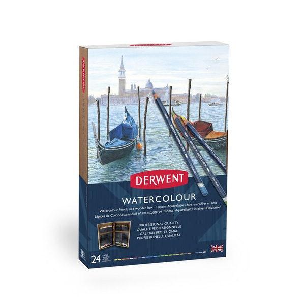 Derwent-Watercolour-Wooden-Box-24-Set-front