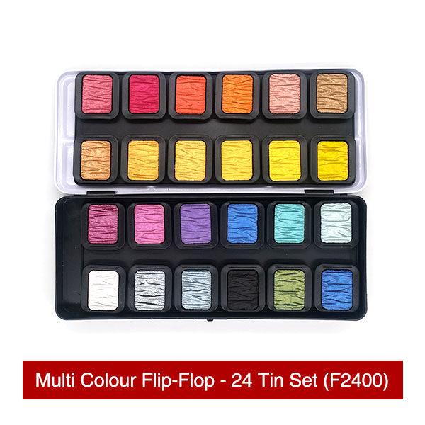 Finetec-Multi-Colour-Flip-Flop-24-Tin-Set-Colours
