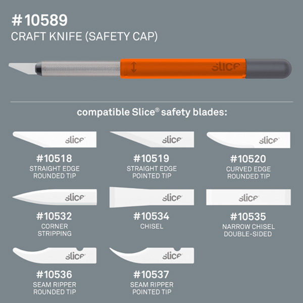 Slice-Craft-Knife-With-Safety-Cap-replacable-knife-blades