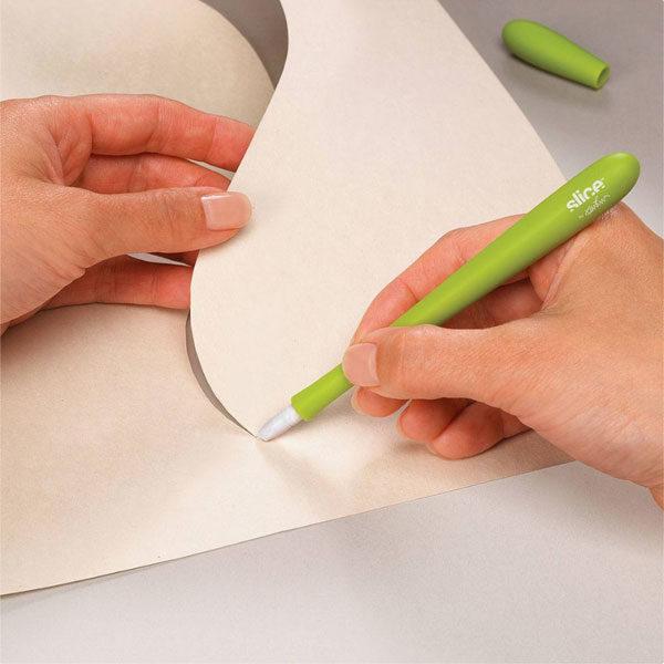Slice-Precision-Cutter-cutting-through-paper