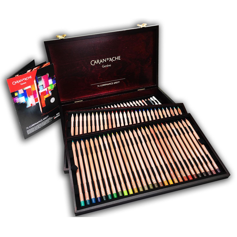Caran-Dache-Wooden-Box76-Luminance-Set-Give-Away-Prize