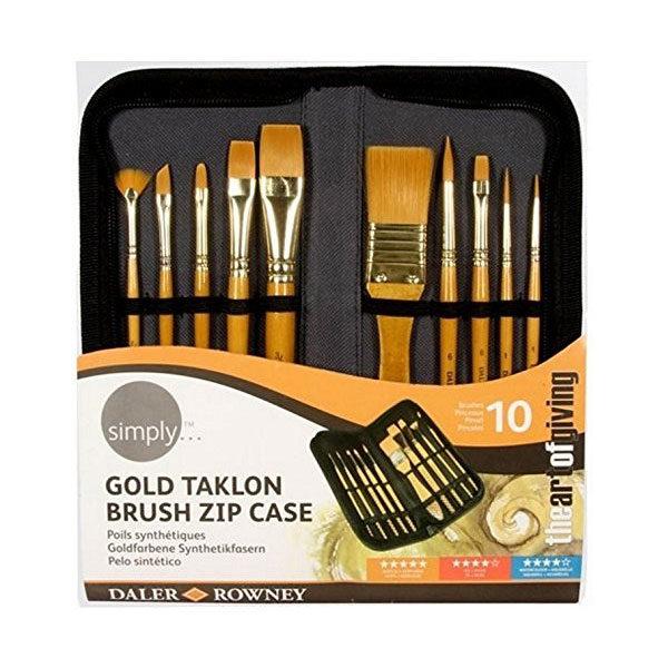 Daler-Rowney-Simply-Acrylic-Gold-Taklon-Brush-Zip-Case