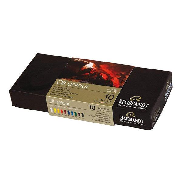 Royal-Talens-Rembrandt-Oil-Colour-Tube-Basic-Paint-Set-Box