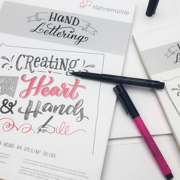 Hahnemuhle-Hand-Lettering-Pads-with-pens