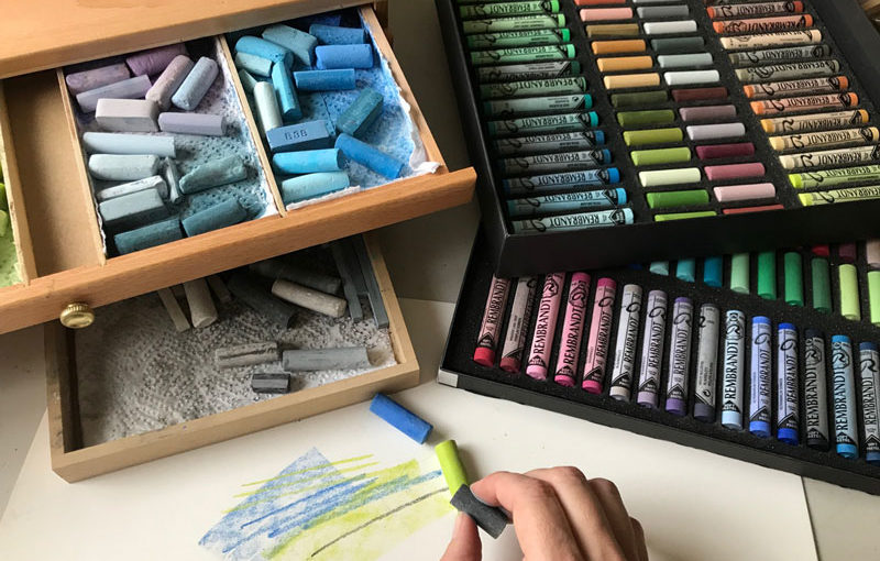 Rembrandt Soft Pastels trays