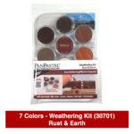 Panpastel-7-Colors-Weathering-Kit-(30701)-Rust-&-Earth