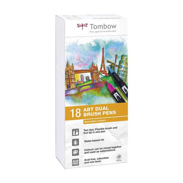 Tombow-ABT-Dual-Brush-Pen-Secondary-Colours-18pc-Set