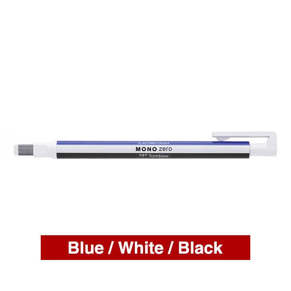 Tombow-Mono-Zero-Precision-Eraser-Black-White-&-Blue-Pen