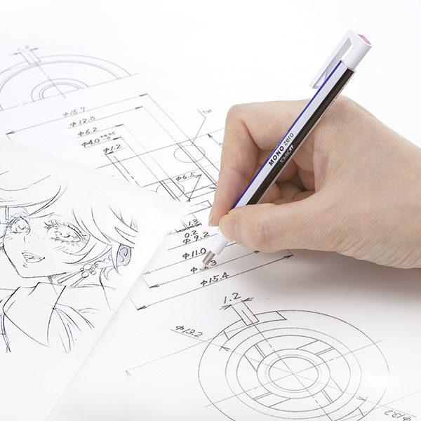 Tombow-Mono-Zero-Precision-Eraser-working-on-sketches