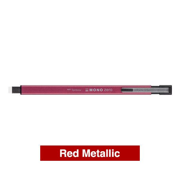 Tombow-Precision-Mono-Zero-Metal-Eraser-in-Red-Metallic-Colour