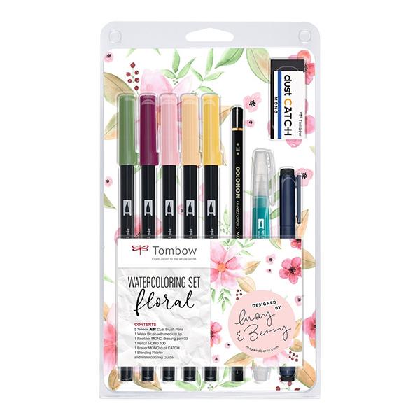 Tombow-ABT-Dual-Brush-Watercoloring-Floral-Pen-Set