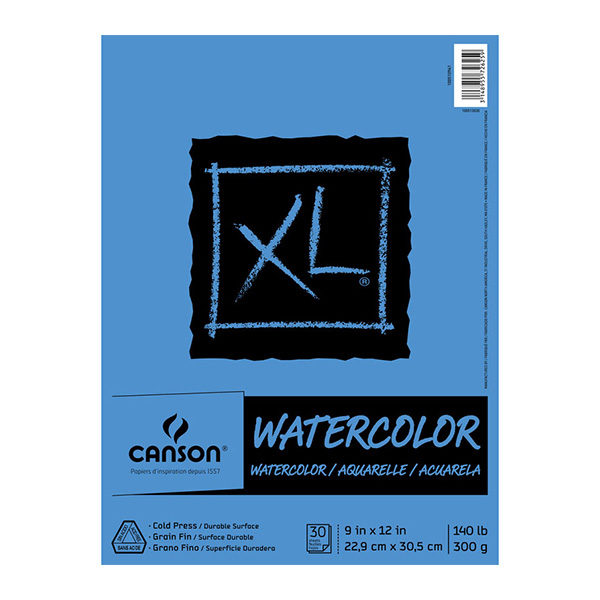 Canson-XL-Watercolor-Pads-300gsm-9x12-inches
