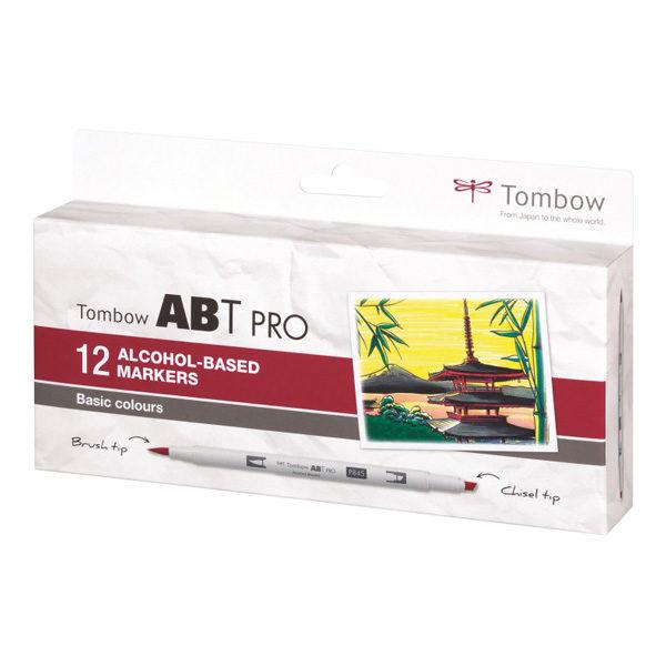 Tombow-ABT-PRO-Alcohol-based-Markers-Basic-Colours-12-Set
