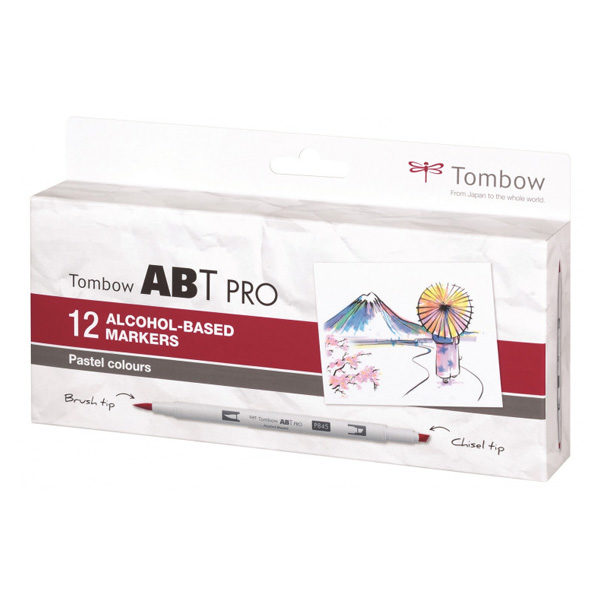 Tombow-ABT-PRO-Alcohol-based-Markers-Pastel-Colours-12-Set