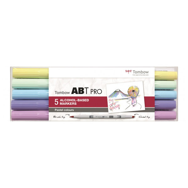 Tombow-ABT-PRO-Alcohol-based-Markers-Pastel-Colours-5-Set