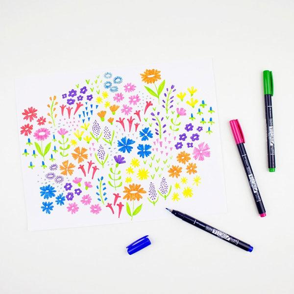 Tombow-Fudenosuke-Brush-Pen-Colour-Set-Pens-sketch-01