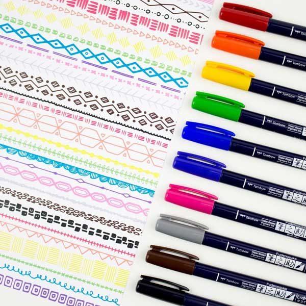 Tombow-Fudenosuke-Brush-Pen-Colour-Set-Pens-sketch-02