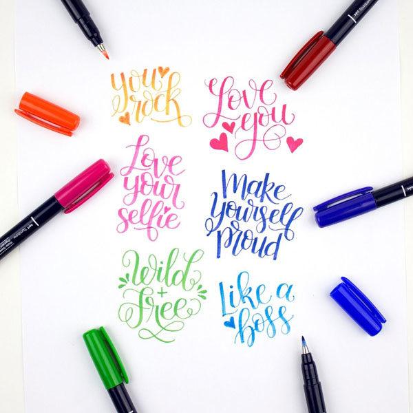 Tombow-Fudenosuke-Brush-Pen-Colour-Set-colour-pens-sample