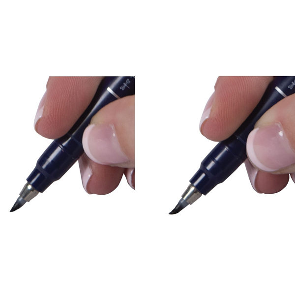Tombow-Fudenosuke-Brush-Pen-Hard-Tip-preasure-test