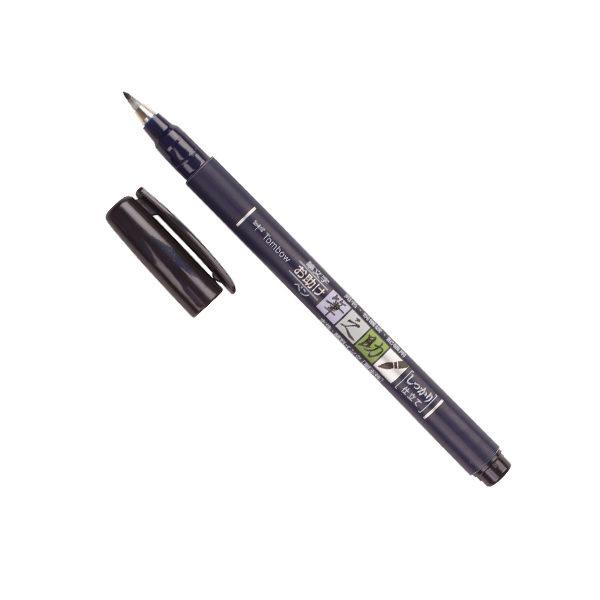 Tombow-Fudenosuke-Brush-Pen-Hard-Tip-with-open-cap