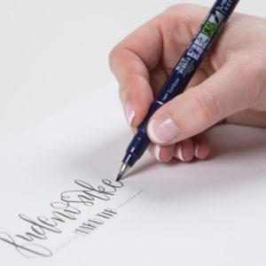 Tombow-Fudenosuke-Brush-Pen-writing