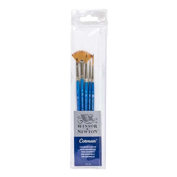 Winsor-&-Newton-Cotman-Short-Handle-Brush-5-Pack