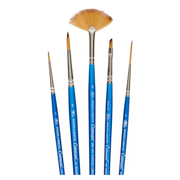 Winsor-&-Newton-Cotman-Short-Handle-Brush-5-Pack-Open