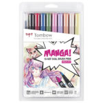 Tombow-ABT-Dual-Brush-Pen-10-Set-Manga-Shojo