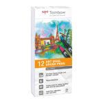 Tombow-ABT-Dual-Brush-Pen-12-Set-Grey-Colours