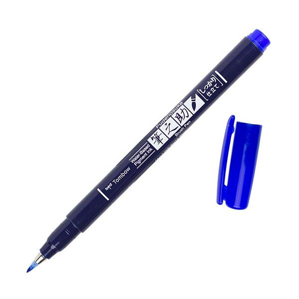 Tombow-Fudenosuke-Hard-Tip-Blue-Brush-Pen