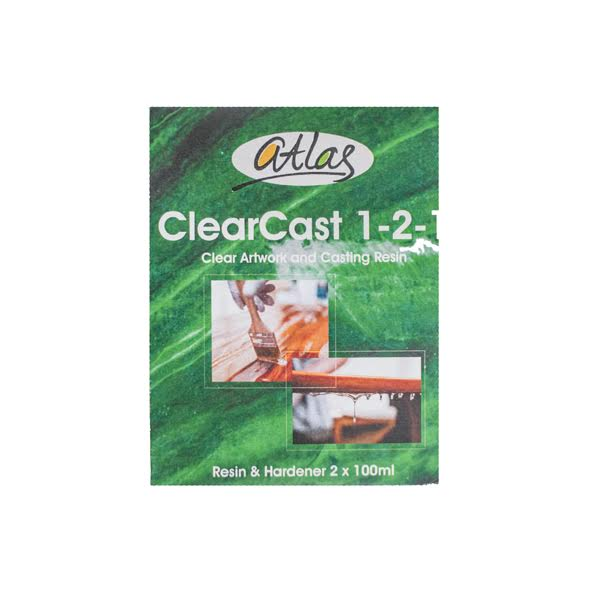 Clear Cast Casting Resin 200ml Packaging- Atlas