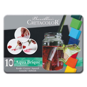 Cretacolor-Aqua-Brique-watersoluble-blocks-of-color-tin-set-of-10