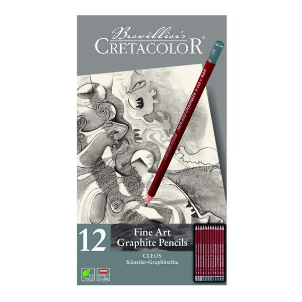 Cretacolor-Cleos-Fine-Art-Graphite-Pencil-Tin-Set-of-12