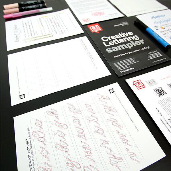Artsavingsclub-Creative-Lettering-Sampler-items-laid-out-01