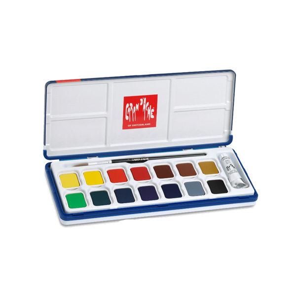 Caran-Dache-Gouache-Studio-Colour-Tablets-Set-of-15-Tin-Set-open