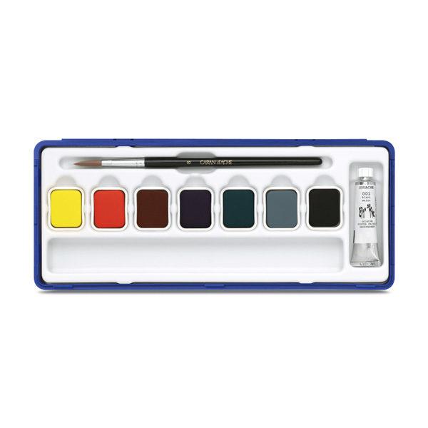Caran-Dache-Gouache-Studio-Colour-Tablets-Set-of-8-Tin-Set-open