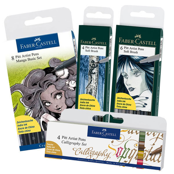 Faber-Castell-Pitt-Artist-Pens-in-Assorted-sets