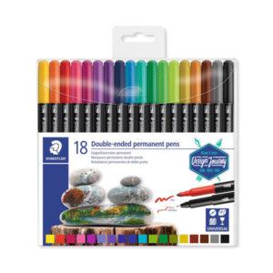 Staedtler-Double-ended-Permanent-Pens-18-Set