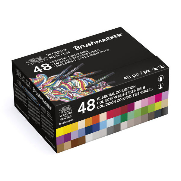 Winsor-&-Newton-Brushmarker-Essential-Collection-48-Marker-Set