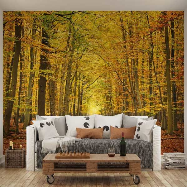 Autumn-Leaves-Wall-Mural-XLWS0058-in-a-living-room-scene