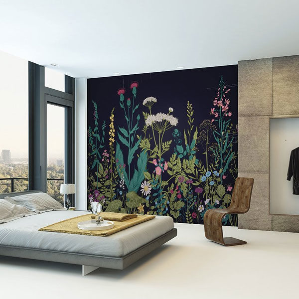 Botanical-Fleur-Wall-Mural-XLWS0196-in-bedroom