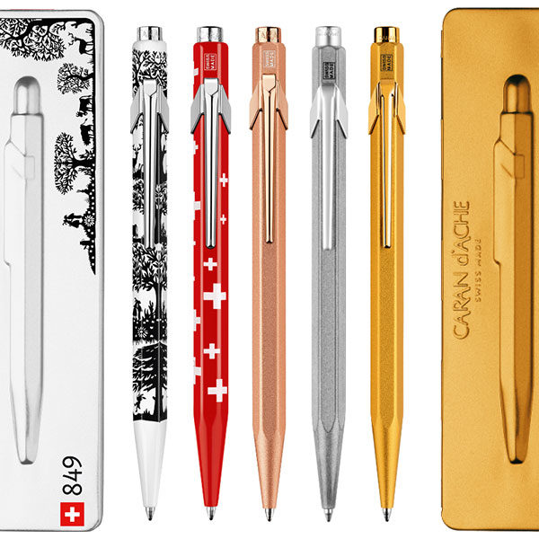 Caran-Dache-849-Ballpoint-Pens-with-Holder