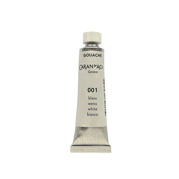 Caran-Dache-Gouache-Studio-Colour-White-10ml-Tube