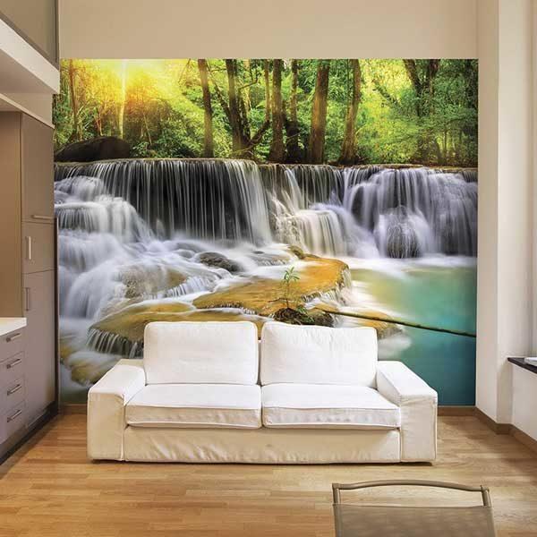 Mystical-Waterfall-Wall-Mural-XLWS0054-in-a-living-room-scene