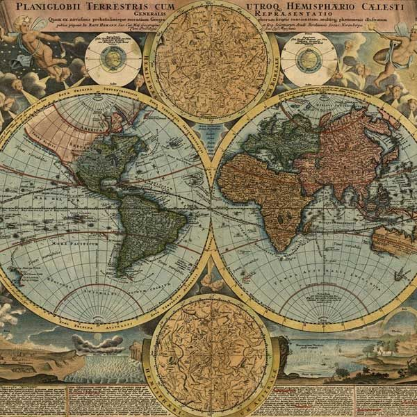 Old-Map-in-Colour-Wall-Mural-XLWS0043-close-up